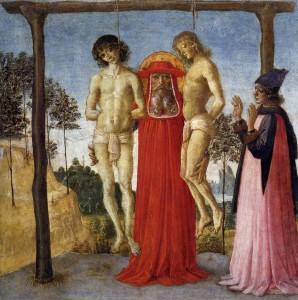 [도판 2] 피에트로 페루지노(Pietro Perugino), , 15세기 후반, 제단 패널에 채색, 파리 루브르 박물관.