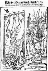 [도판 6] '유대식 처형', (스트라스부르크: Matthias Hupfuff, 1512-15년경).