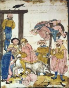 [도판 7] 브루더 글라드벡(Bru+der Gladbeck)이 프리드리히 폰 니어하우젠(Friedrich von Niehausen)과 그의 보증인에게 보낸 슈만브리페(Schma+nbrief, '비방문'), 1525-6, 독일. 헤센 주립문서보관소, 마르부르크.